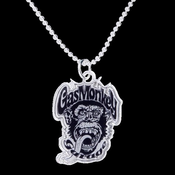 """Kurze Gas Monkey Garage Halskette """"Monkey Head"""""""