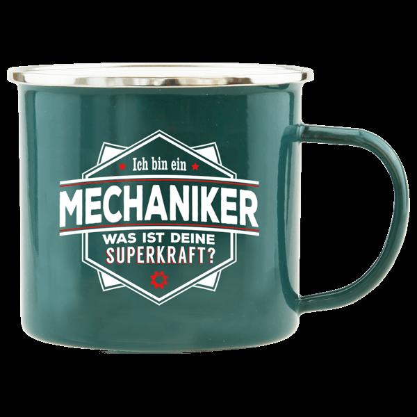 "Emaille-Becher ""Mechaniker"""
