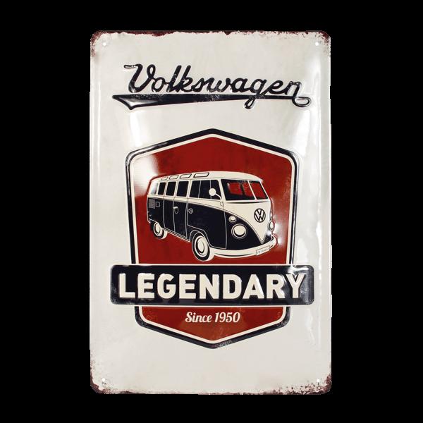 """Blechschild """"VW Bulli - Legendary"""""""