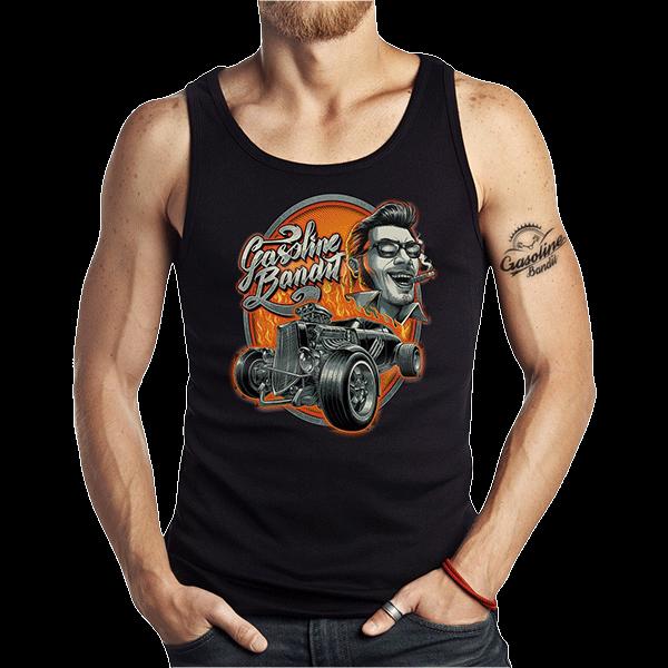 """Tank Top """"Rockabilly Hot Rod"""" von Gasoline Bandit"""