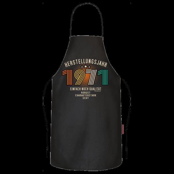 """Grill- und Kochschürze """"Herstellungsjahr 1971"""""""